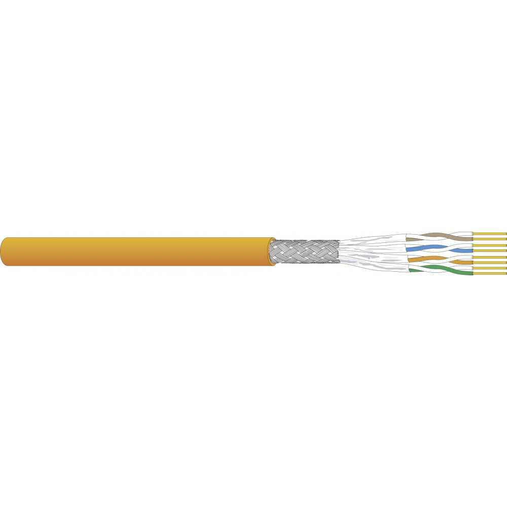 Tietoverkkokaapeli-Cat7 CU7080 Cat.7 S/FTP FRNC/LSOH 4Px0,57 Dca