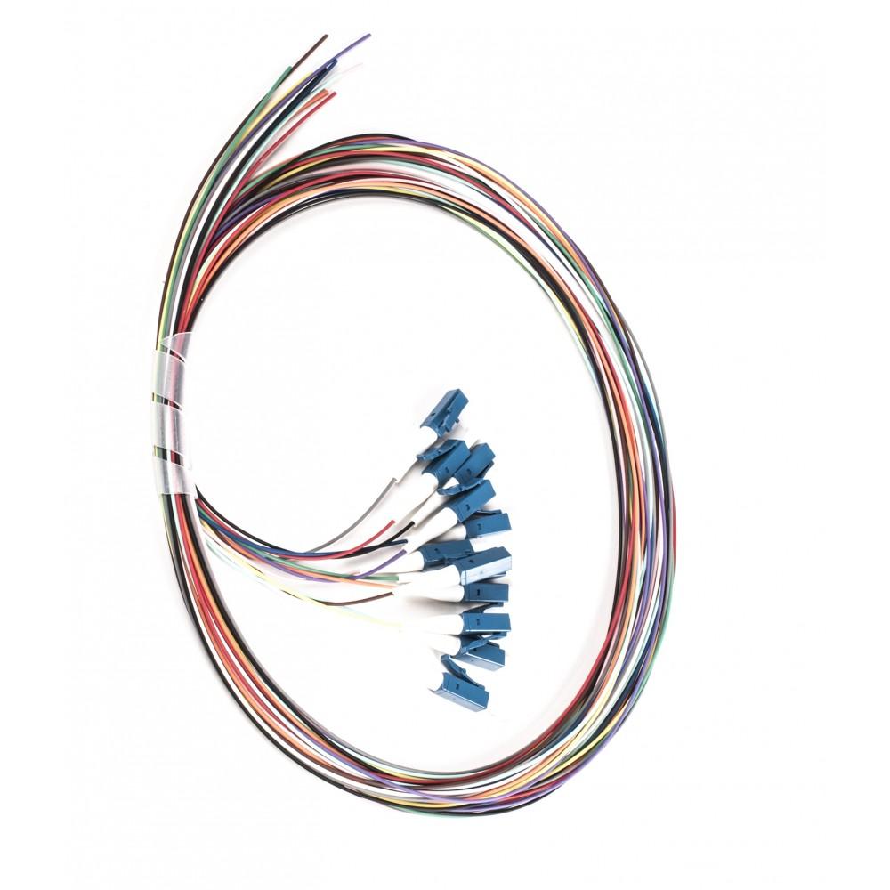 Häntäkuitu LC-UPC 9/125 OS2 tightbuffer Häntäkuitu LC-UPC 1,5m 12kpl/pss