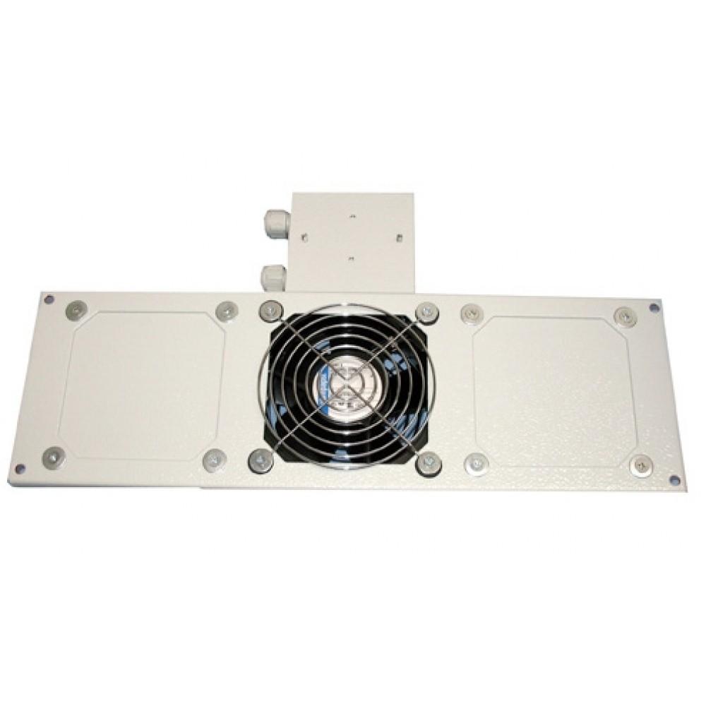 """Tuuletin moduli 19"""" lattiakaappiin 1 puhallin + termostaatti"""
