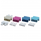 Adapteri, LCQ APC OS2, green LCQ APC SM, quattro, 12pcs/pss