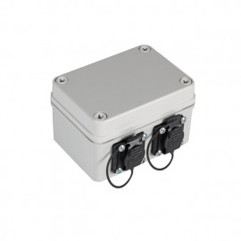 Pintarasia IP67, 2xCat6a Keystone IP67 Distribution box plastic