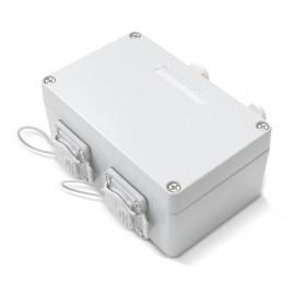 Pintarasia IP67, 2xRJ45, EiLiit. IP67 Outlet Keystone, Aluminium