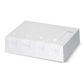 Pintarasia, 4xRJ45, Ei liit., pölys Surface mount box 4x Keystone