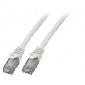 Kytkentäkaapeli Cat.6 Valkoinen (UTP) EFB