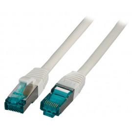 Kytkentäkaapeli CAT6a MK6001 Harmaa (S/FTP)