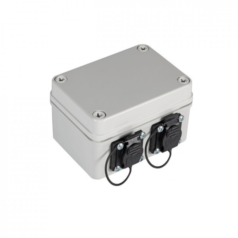 Pintarasia IP67, 2xCat6a Keystone IP67 Distribution box plastic