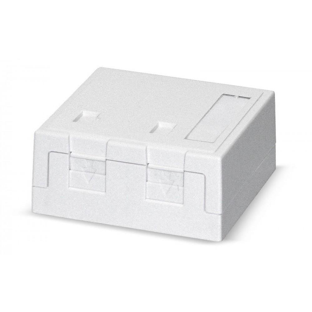 Pintarasia, 2xRJ45, Ei liit., pölys Surface mount box 2x Keystone