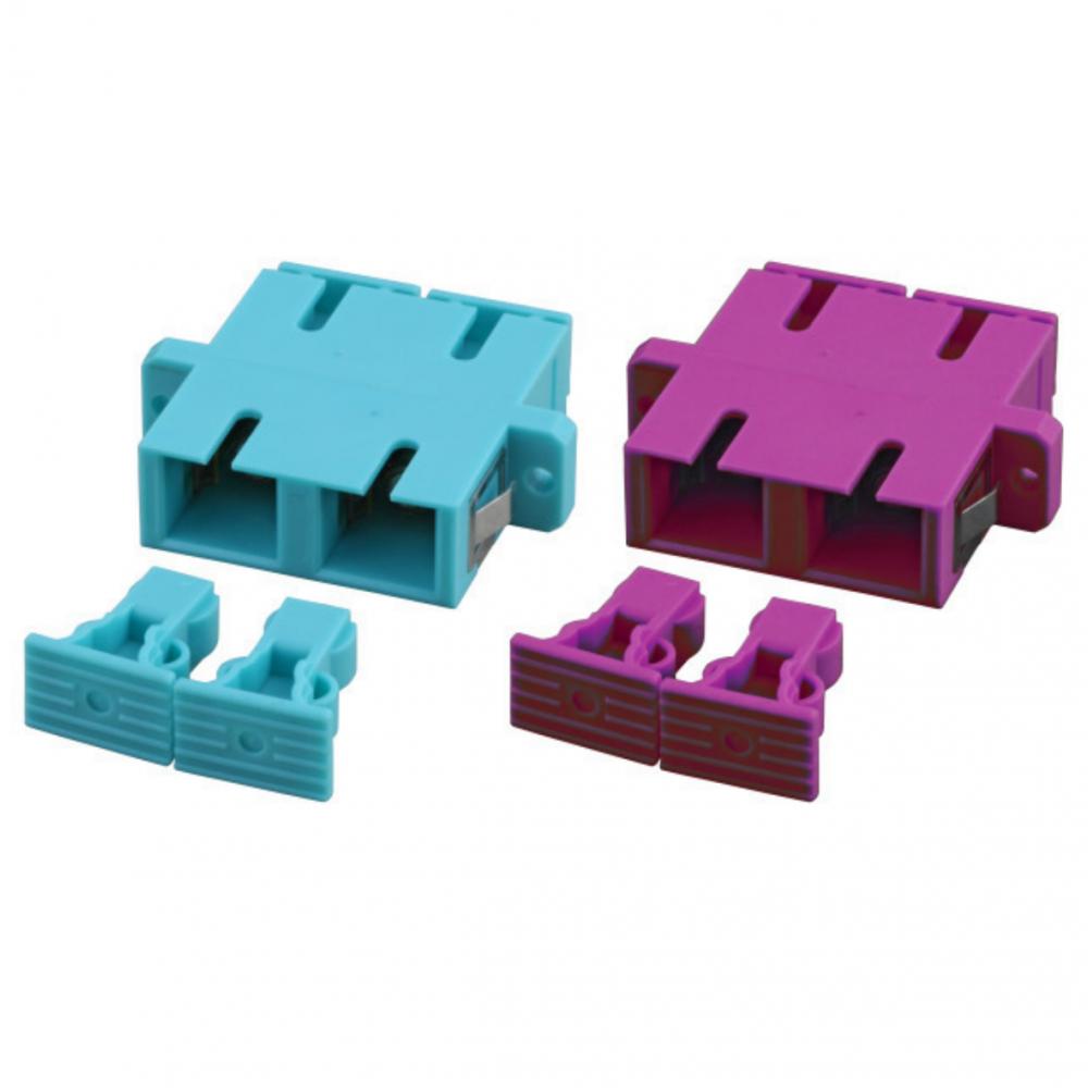 Adapteri, SCD APC OS2 SM, green SCD APC SM duplex, 12 pcs/pss