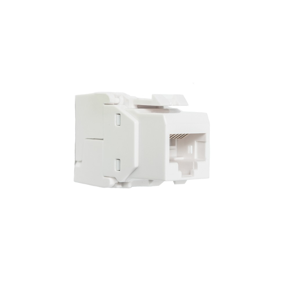 Liitin-Cat6 RJ45 UTP Keystone Cat.6 UTP Työkaluton, valkoinen