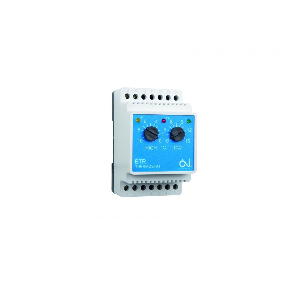 ETR/F-1447A DIN-kisko16A Kaksoistermostaatti
