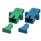 Adapteri, SC APC OS2 SM, green SC-APC SM simplex, 12 pcs/pss