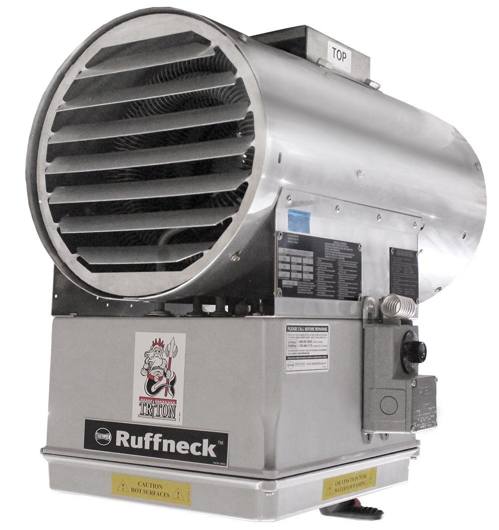 CR1 TRITON lämmityspuhallin teollisuuden märkätiloihin
